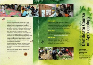 Certificate Course on Agro Ecology Page 2